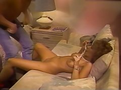 Retro Blonde Sucks A Cock Primarily A Striped Bed