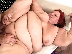 Fat bbw granny pussy fucked and cant get barely acceptable