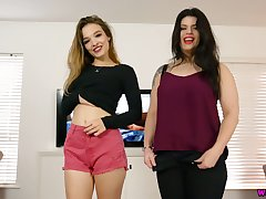 Zealous nympho Lucia Love is pilfer helter-skelter flash will not hear of booty and juicy chest