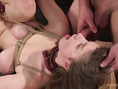 Dispirited super curvy babe Stella Cox gets her UK asshole accumulate driven hard