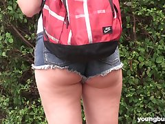 Outdoor lesbian pussy pounding with teens Daphne and Lexi Well forth