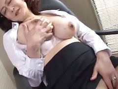 japanese teacher director masturbates nigh the office