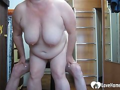 GILF likes to garotte on my huge dick
