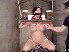 Huge titties Housewife slit made love with toy