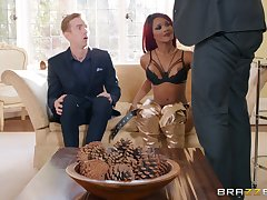 redhead piece of baggage Kiki Minaj gets fucked by hard cock while she moans