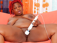 Frowning BBW Marley XXX Teases Her Buxom Pussy with a Dildo and Vibrator