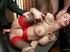 Lusty fixed with trammels hoe Veronica Avluv gets anal fucked hard